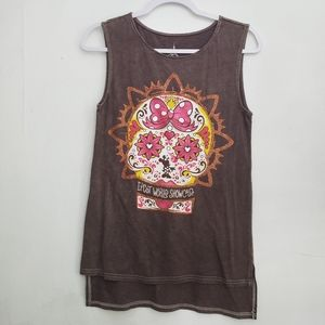 Disney Parks Minnie Mouse Skull Tank Top
